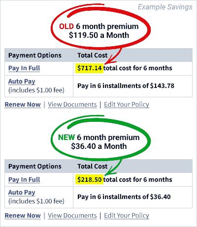 Example savings